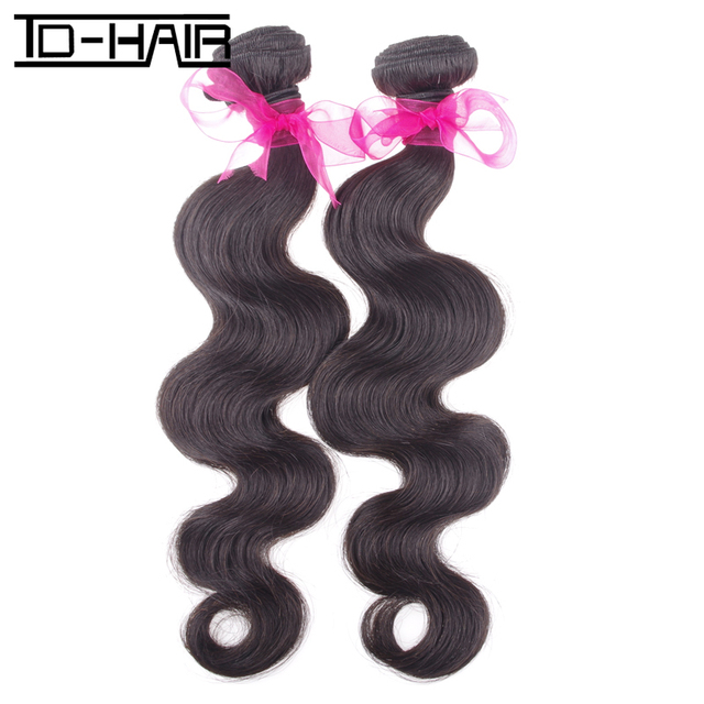 9A Brazilian Virgin Hair Body Wave Human hair Extensions Virgin Unprocessed Natural Color 1B# 2pcs/lot TD HAIR Products