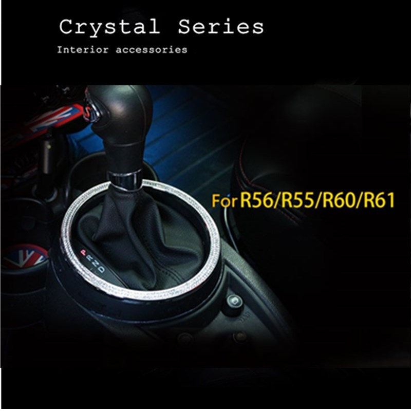 NEW! Luxury Crystal car gear border decoration accessories For mini cooper countryman r60 paceman r61 r55 r56 styling