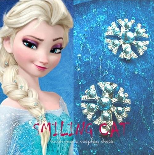 custom frozen queen elsa snow snowflake blue hairpin clips