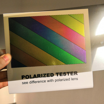 2pieces/lot Polarized Lens Test Card for Testing Polarizing sunglasses Polaroid Test Card eyewear sun Glasses accessories 1