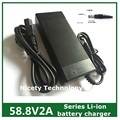 58.8 V 2A 58.8v2a batería li-ion cargador de batería para 14 Series Li-polímero batería li-ion de litio de la buena calidad