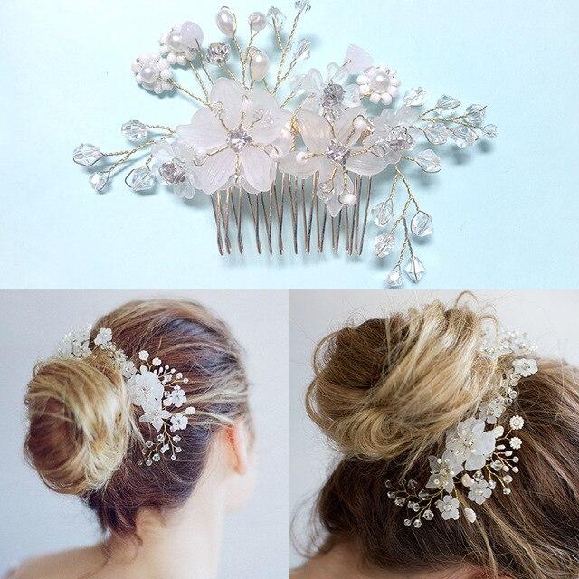 Crystal Hair Comb Wedding Hair Accessories Flower Headwear Bridal