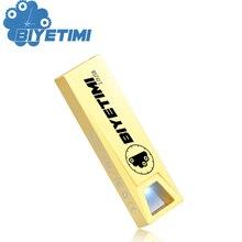 Biyetimi Usb Flash Drive 4GB Key Hole 8GB Metal 4 Colors Cute 16GB Pen Drive 32GB Pendrive 64GB Usb Memory Stick 2.0 Flash Drive