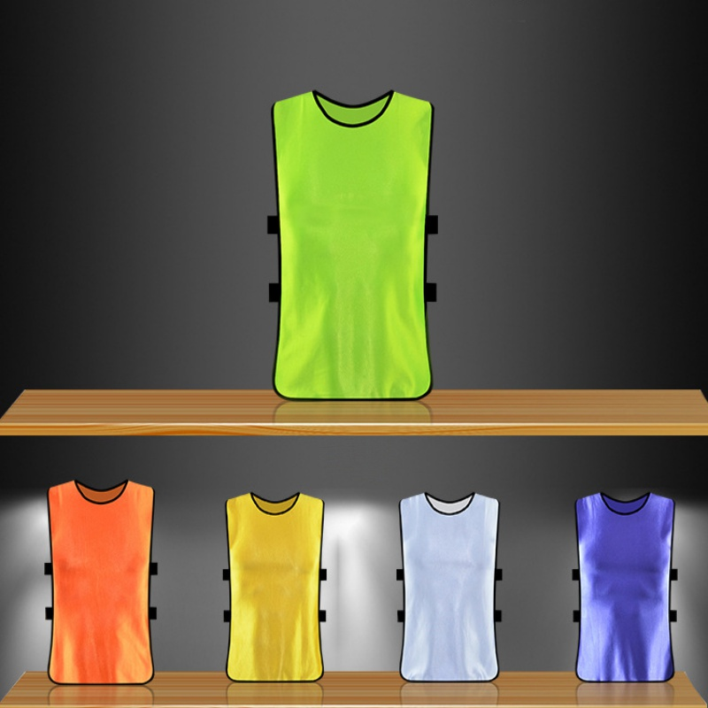 Adult Children Kid Team Sports Football Soccer Training Pinnies Jerseys Quick-dry Breathable Training Bib Vest Outdoor Sports