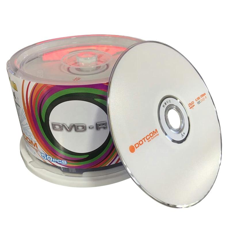 50/лот DVD диски пустые DVD-R CD Диски 4,7 ГБ 16X записываемые компактные записи после хранения данных Пустые DVD диски Lotes