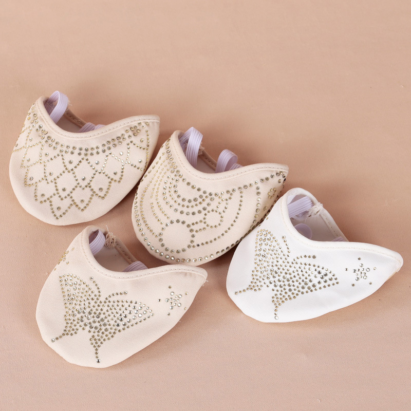New 2018 Heel Protector Professional Ballet Dance Socks 1 Pair Belly Dancing Foot Thong Dance Accessories Toe Pads Nude