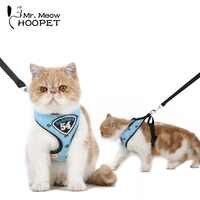 Hoopet Pet Dog Cat Harness Vest Leash Suit Navy Blue Pet Harness Collar Cute Puppy Cat Jacket Leash Cothes Harness