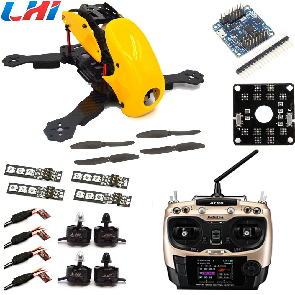 drone RC plane Robocat kit rtf pdb 270 280 4-axis Carbon Fiber Quadcopter Frame Cc3d 2204 Motor 12a Esc Props Yellow rc airplane rc plane 210 mm carbon fiber mini quadcopter frame f3 flight controller 2206 1900kv motor 4050 prop rc