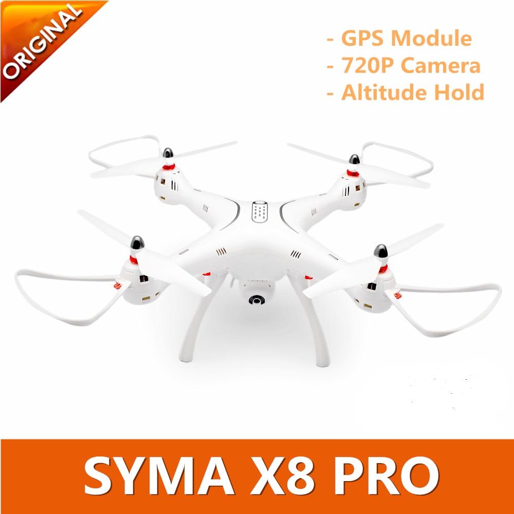 Original SYMA X8 PRO GPS Drone RC Quadcopter With Wifi 720P Camera Professional FPV Drone Auto Return RC Helicopter VS CX20