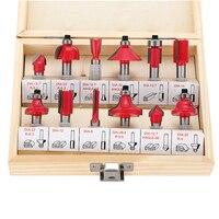Milling Cutter 8mm Router Bit Set Wood Cutter Straight Shank Carbide Cutting Tools 12Pcs