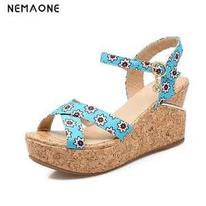 fd556ad82f088 NEMAONE Summer High Heels Wedge Sandals women shoes