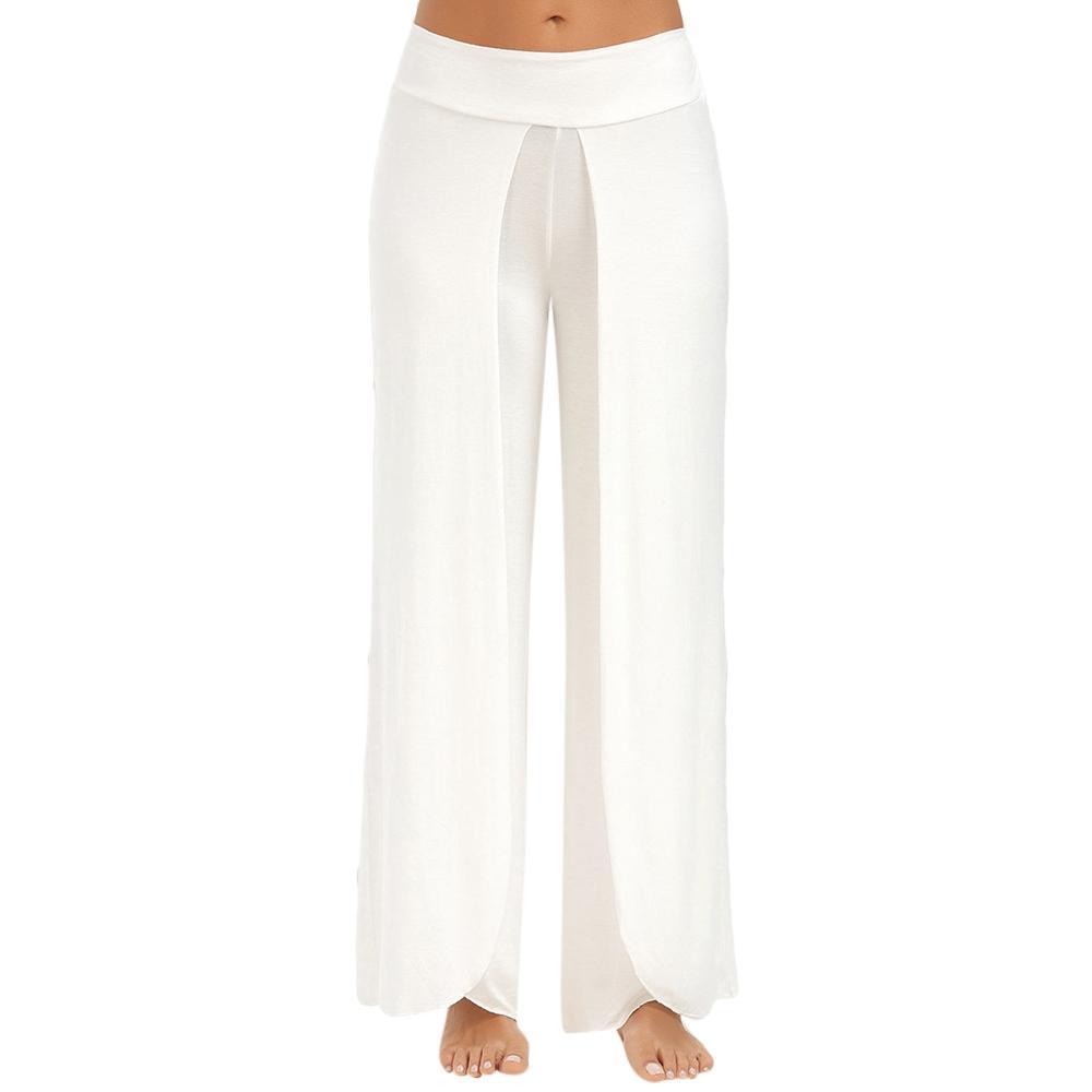 9c15c9c131939 ... VESTLINDA Casual Pants Women 2017 Bottoms Trousers Pantalon Femme High  Slit Palazzo Wide Leg Pants Female ...
