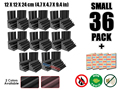 Arrowzoom 36 pcs Bass Traps Acoustic Foam Sound Absorption Treatment 12 x 12 x 24 cm (4.7 x 4.7 x 9.4 in) KK1133