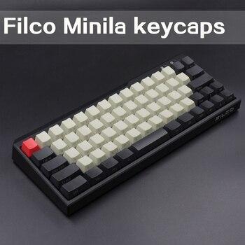 PBT колпачки для ключей, механическая клавиатура для Filco Minila, передняя/боковая печать, 67 ключей с колпачком для ключей Cherry MX