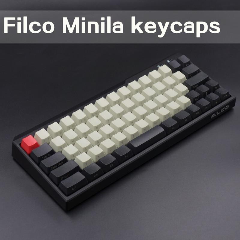 все цены на PBT keycaps For Filco Minila Mechanical Keyboard Front/Side Printed 67 Keyset With Keypuller Cherry MX Key Caps онлайн