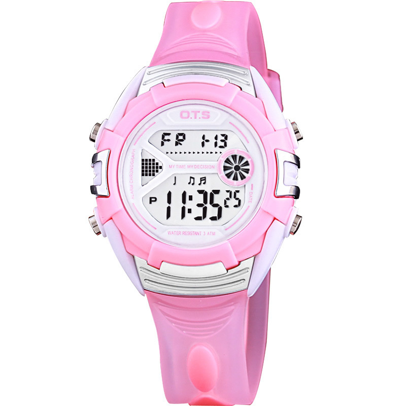 OTS Children Watch Fashion Casual Digital Watches Wristwatches 50M Waterproof Jelly Kids Clock boys Hours Girls Students Watch popart children watches for girls boys kids 7 colored back light 50m waterproof sport watch led digital wristwatches child clock