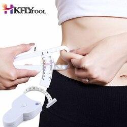 2PCS White PVC Body Fat Caliper Body Fat Tester Measurement Tape Tester Fitness Lose Weight Body Building Equipment