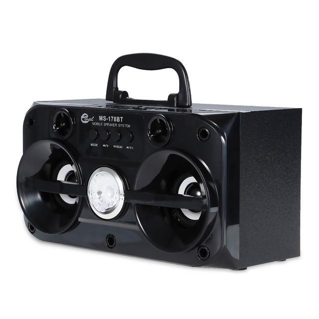 MS-178BT Eonec MS-178BT Multimedia Speaker Bluetooth 2 Chifres Rádio FM Leitor de Música do Cartão do TF