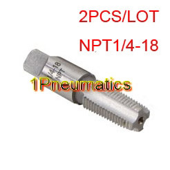 Free Shipping 2PCS/LOT NPT 60 Degree Pipe Taps NPT 1/4-18 TPI Tap Threading Tools Cheaper free shipping of 1pc bsp die g1 3 4 11 pipe threading dies threading tools lathe model engineer thread maker for water pipe