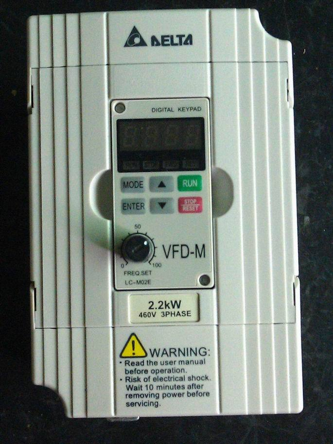 Original NEW Motor Drive VFD022B43B, DRIVE AC 3PHASE 0-480V 5.5AMP 4.2KVA 3HP .1-400HZ, Frequency Converter VFD-B new original 220v 1 5kw 2hp 0 1 400hz frequency converter vfd015b23a