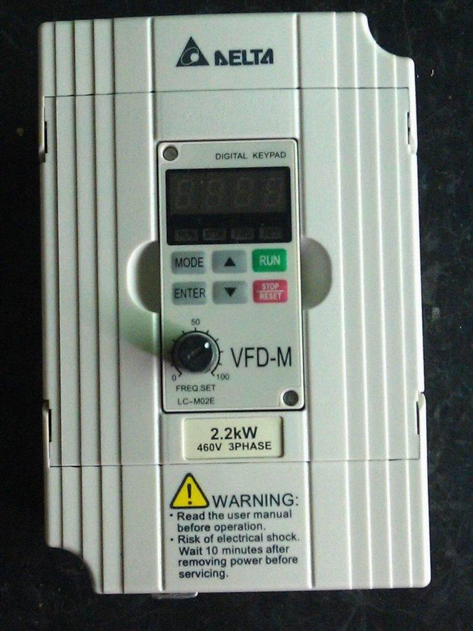 Original NEW Motor Drive VFD022B43B, DRIVE AC 3PHASE 0-480V 5.5AMP 4.2KVA 3HP .1-400HZ, Frequency Converter VFD-B