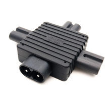 IEC 320 IEC320 IEC Figure 8 C8 Male to 3X Female C7 plug Splitter Power Adapter connector for Power Supply 1 in 3 out