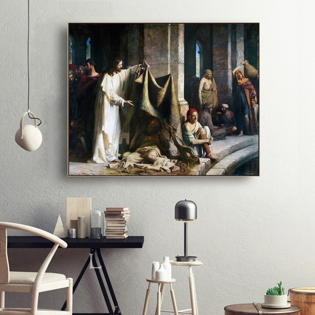 Jesus Christian Famous Canvas Oil Painting Poster Prints Living Room House Wall Decor Art Painting Home Decoration Picture