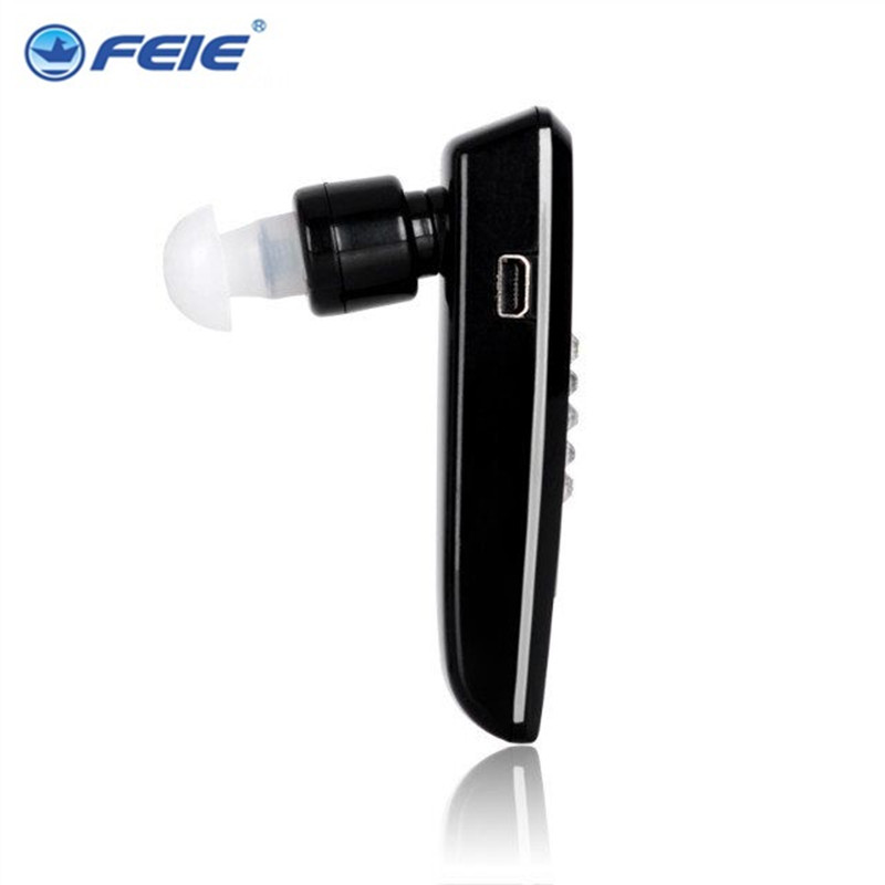Rechargeable BTE Hearing Aid S-101 Bluetooth Earphones Amplifier Cheap Deaf-aid for Both Ear Free Shipping cheap hearing aid sound amplifier micro aparelho auditivo bte s 520 deaf aid free shipping hot selling