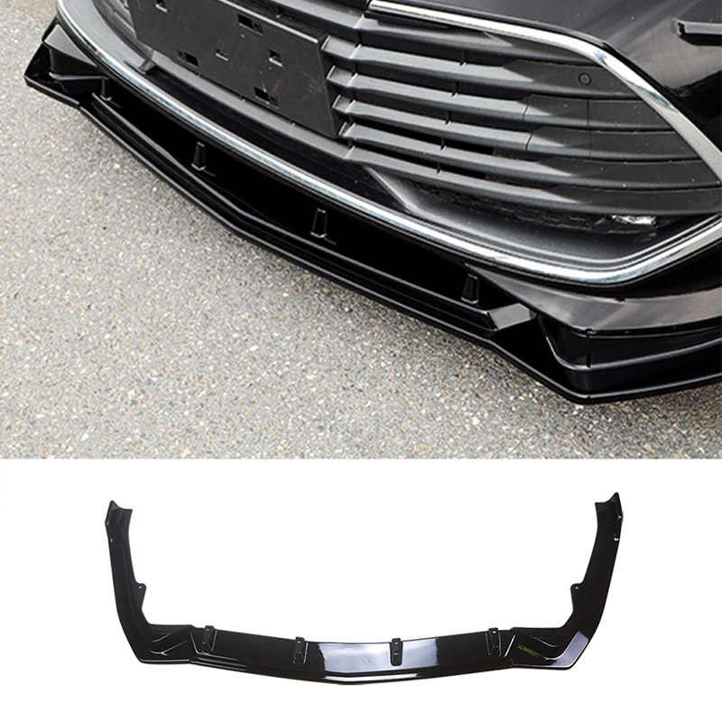 Loyalty for Toyota Avalon 2019 High Quality 3pcs/Set ABS Paint Car Front Bumper Spoiler Lip Auto Car Front Bumper Diffuser Cover