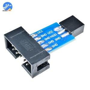 2 шт. 10Pin в 6PiN конвертировать в стандартный 10 Pin в 6 Pin адаптер плата для ATMEL STK500 AVRISP USBASP ISP интерфейс конвертер AVR