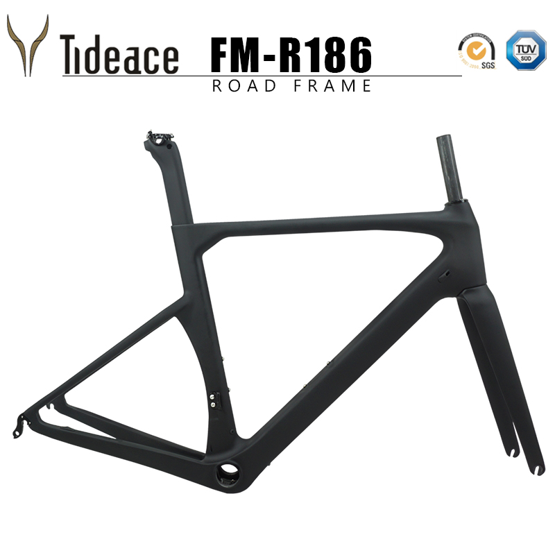 2019 V brake carbon fiber road frame 135*9mm UD carbon road bike frame Di2 carbon fiber bicycle frameset 50/53/56/59cm