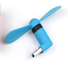 Electric USB Fan Summer Cooling Cooler Mini USB Fan for iphones with OTG and USB for PC Laptop Powerbank(Random Color)