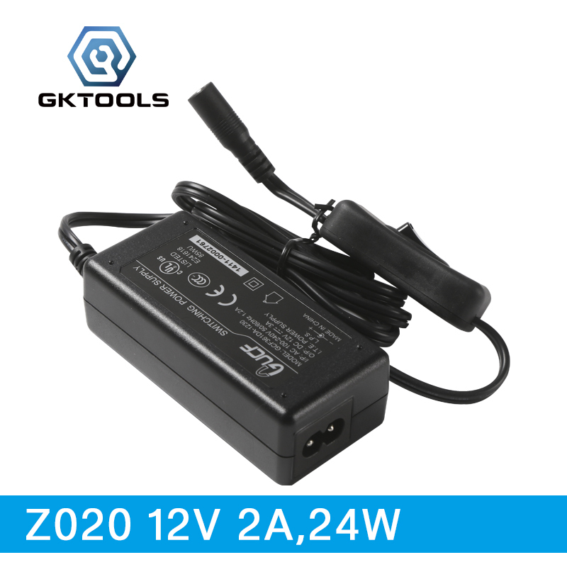 GKTOOLS, 12V 3A 24W Power Adaptor with Switching, Supply Dedicated for Z006 24w mini motor, Z020 & Z020 1
