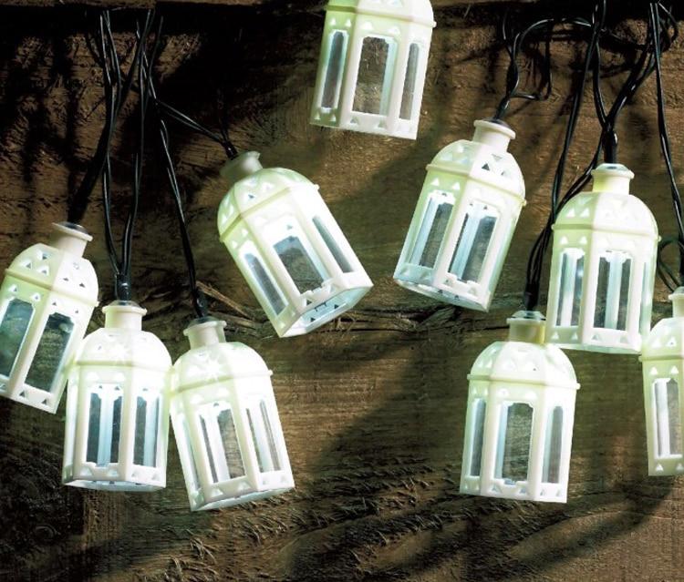 10Led Fairy Beautiful Black White House Solar Power String Lights 3m LED Decor For Christmas Garland
