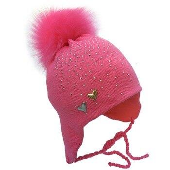 MTTZSYLHH2018 Pom Children Winter Hat For Girls Hat Knitted Beanies Cap Brand Thick Baby Cap Baby Girl Winter Warm Hat