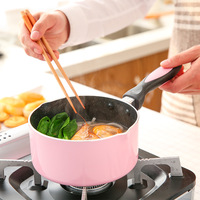 16cm Mini Non stick Milk Heating Pot Baby Pot for Soup Kitchen Pots and Pans Chafing Dishes with Free Shipping Korean Style Pots