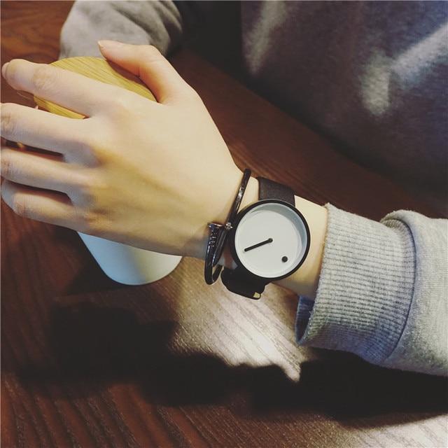 2017 Minimalist style creative wristwatches BGG black & white new design Dot and Line simple stylish quartz fashion watches gift
