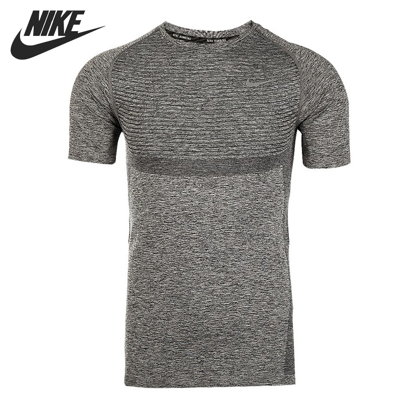 Original  NIKE DRI-FIT KNIT SS Men's Running T-shirts short sleeve Sportswear nike топ dri fit ctn aop nike tank