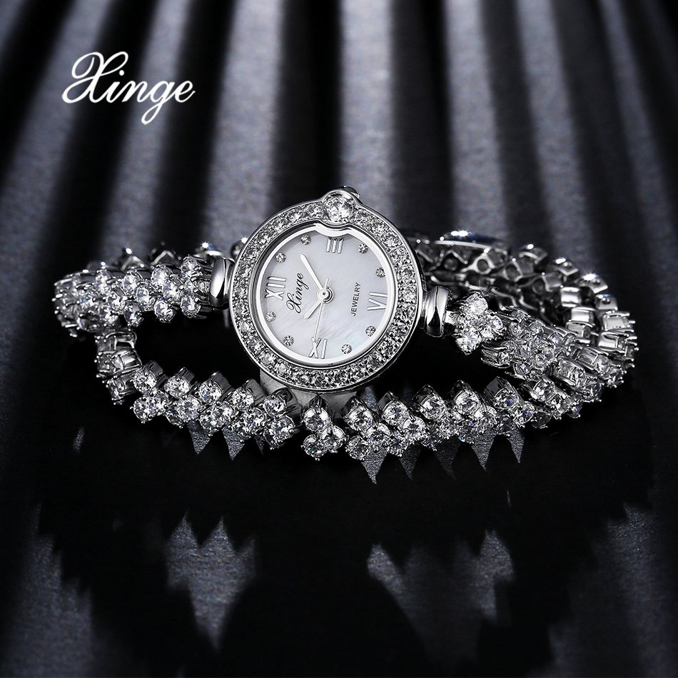 Luxury Women Watches Silver Stainless Steel Quartz Wrist Watch Ladies Bracelet Dress Watch Relogio Feminino Xinge Top Brand xinge top brand luxury women watches silver stainless steel dress quartz clock simple bracelet watch relogio feminino