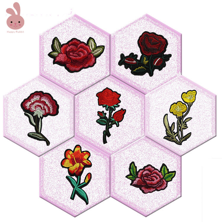 1piece Flower Patches Iron On Patches For Clothing DIY