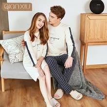 Qianxiu  Summer Casual Women Nightgown Plus Size Nightdress Modal Sleepshirts women/s pakamas 18118