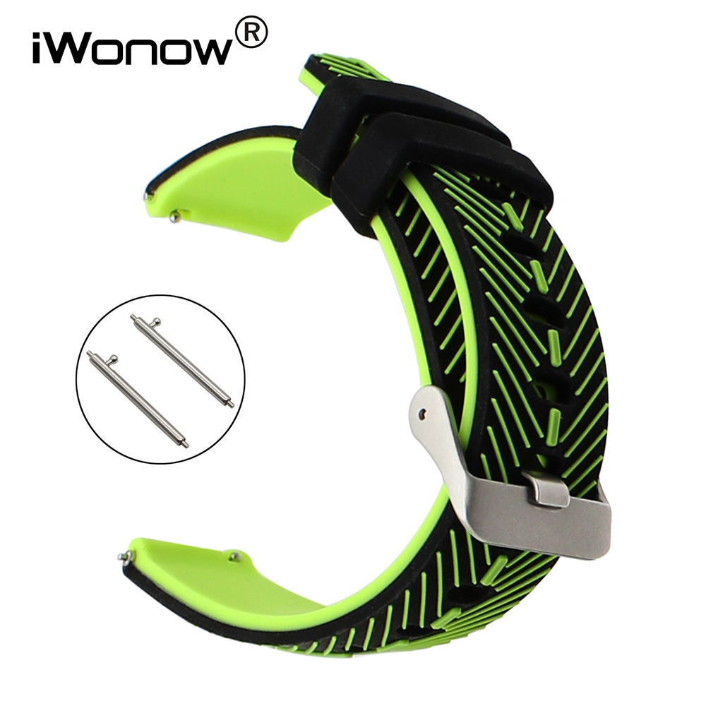 22mm Quick Release Silicone Watchband for Samsung Gear 2 Neo Live Moto 360 2 46mm Men Pebble Time Rubber Watch Band Wrist Strap jansin 22mm watchband for garmin fenix 5 easy fit silicone replacement band sports silicone wristband for forerunner 935 gps