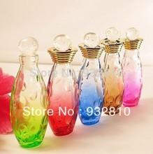 5ml MINI Color Glass Perfume Bottle Refillable Empty Essential Oil Vials Portable Makeup Bottle New Brand 10pcs/lot CE517
