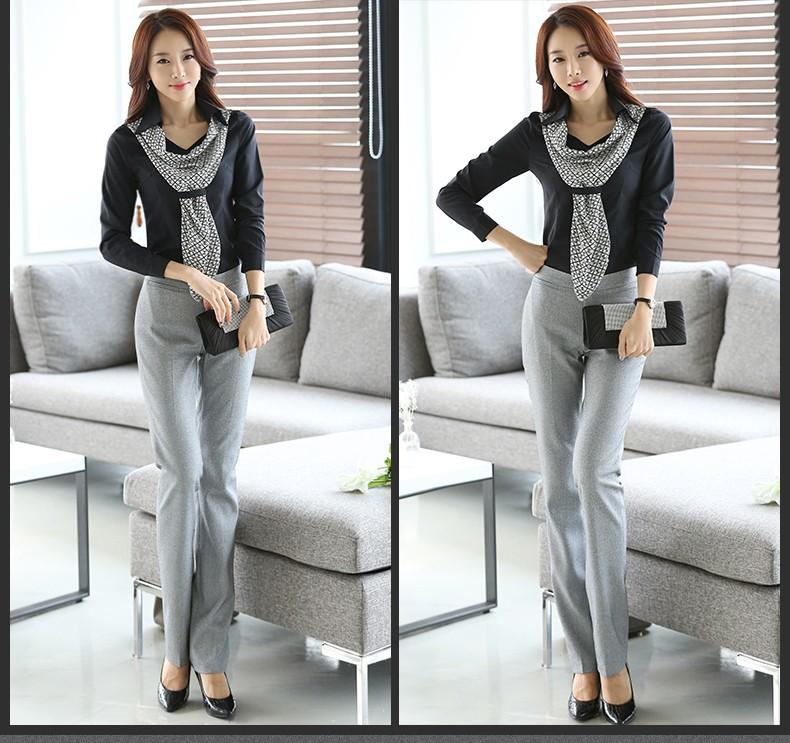 HTB12lt9JpXXXXcfXVXXq6xXFXXXo - Women's shirt slim formal scarf collar long-sleeve blouses