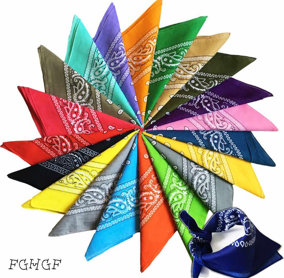 34 renkler! 55CM * 55CM Yeni Hip-Hop Pamuk Karışımlı Marka Bandanalar Erkekler Kadınlar Için Sihirli başörtüsü Eşarp H doğum günü hediyesi Hediye