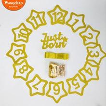 Креативный детский душ фото зажимы мерцающие звезды дети день рождения фото плакат вечерние фон DIY украшения Аксессуары