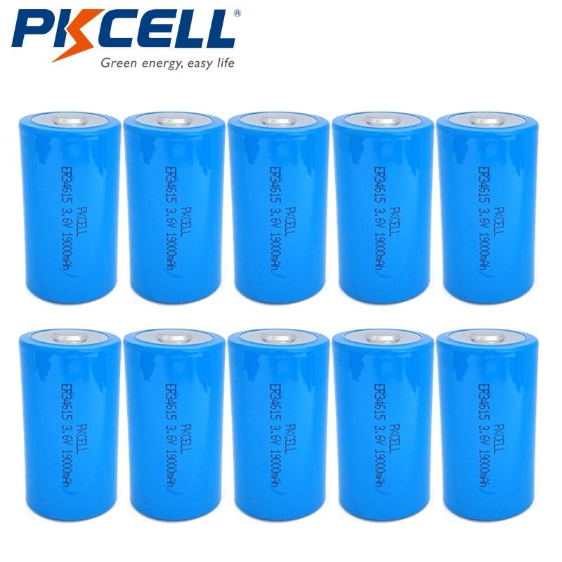 10pcs 1//2 AA 3.6V ER14250 LS14250 1200mAh Lithium Li-SOCL2 Battery PKCELL