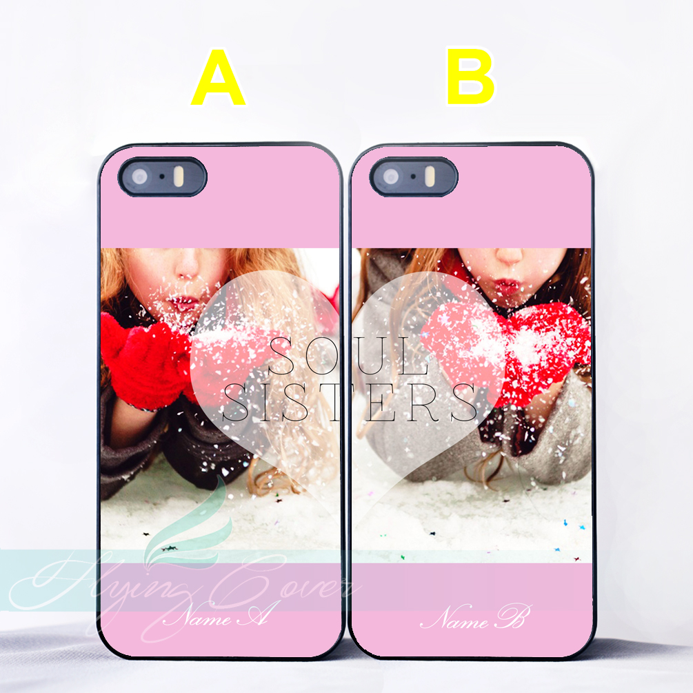 a7849f9fc1 Coque Girl Best Friend Soul Sister Couple Cases for iPhone X 8 8Plus 7 6 6S  7 Plus SE 5S 5C 5 4S 4 Case for iPod Touch 6 5 Cover