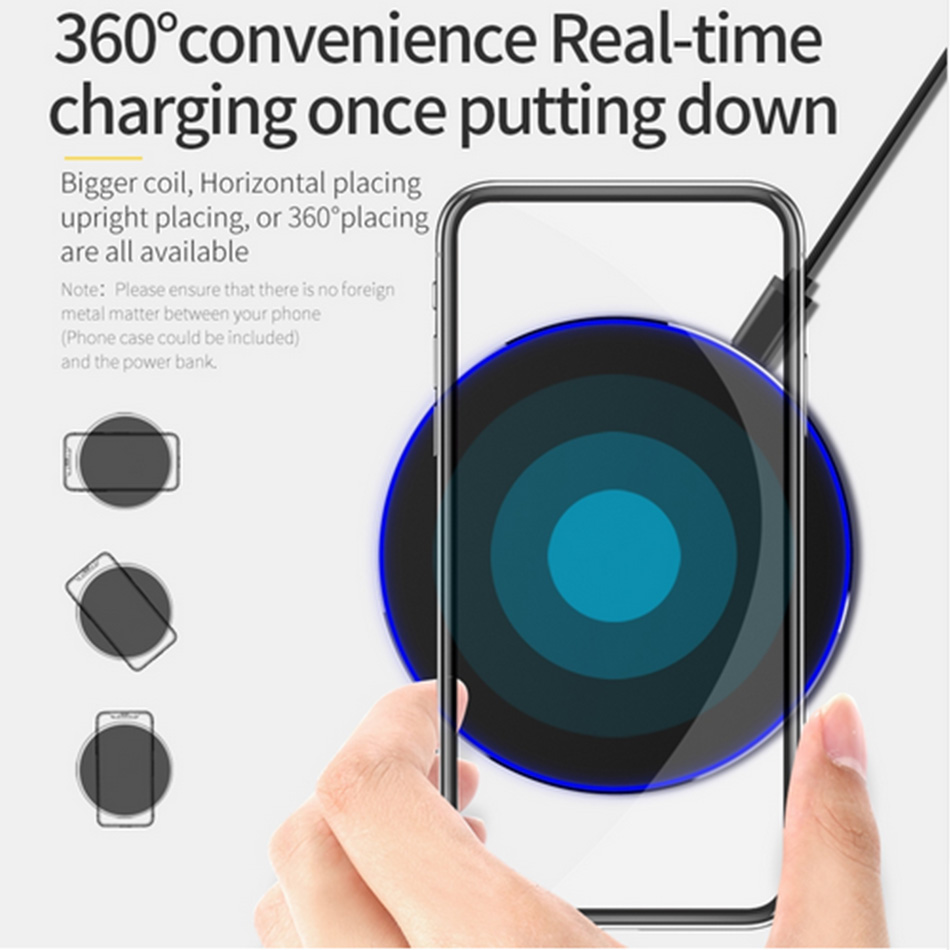 Qi Wireless Charger 10W 7 5W 5W QC3 0 Fast Phone Charger for iPhone 11 X