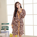2016 autumn and winter new fashion flannel set coral velvet lady robe